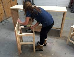 Free Wood Desk Chair Plans by Ana White Hidden Desk Apothecary Cabinet Diy Projects