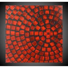 acrylbild abstrakt grau rot acrylbilder auf leinwand