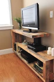 Tv Stand Made Out Of Pallets After Corner Stands