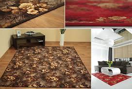 details zu teppich teppichboden wilstar wohnzimmer braun rot kurzflor meterware nach maß
