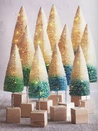 8999 4 Pre Lit Christmas Trees With Mini LED Lights