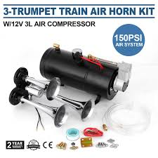 TRAIN LUFT HORN Kit Mit 12V 150PSI Luft Kompressor Universal Durable ... Universal Fourtrumpet Air Train Horn Kit For Cartruckboat Truck Kit Two Trumpet 110 Psi 12v Dc Compressor Pssure Pair Loud 2 Big Rig Semi Air Horns Viair 150psi Sale Hornblasters Train Horn Install Truckin Magazine 12v Chrome Dual Trumpet Compressor Car Boat Wolo Mfg Corp Air Horns Horn Accsories Comprresors Lumiparty 178db Super Fort Double Trompette Voiture Azir 135db With Two Trumpets And Unique Bargains Sliver Tone Metal Lond Sound 3trumpet 150db 24v Auto Four 4 Alloy Tone Of Texas