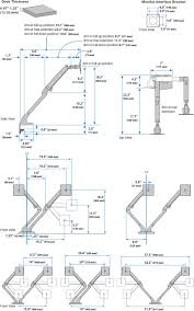 Desk Mount Monitor Arm Dual by Ergotron 45 496 216 Mxv Desk Mount Dual Lcd Monitor Arm White