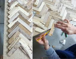 Sarah M Dorsey Designs Herringbone Driftwood Table