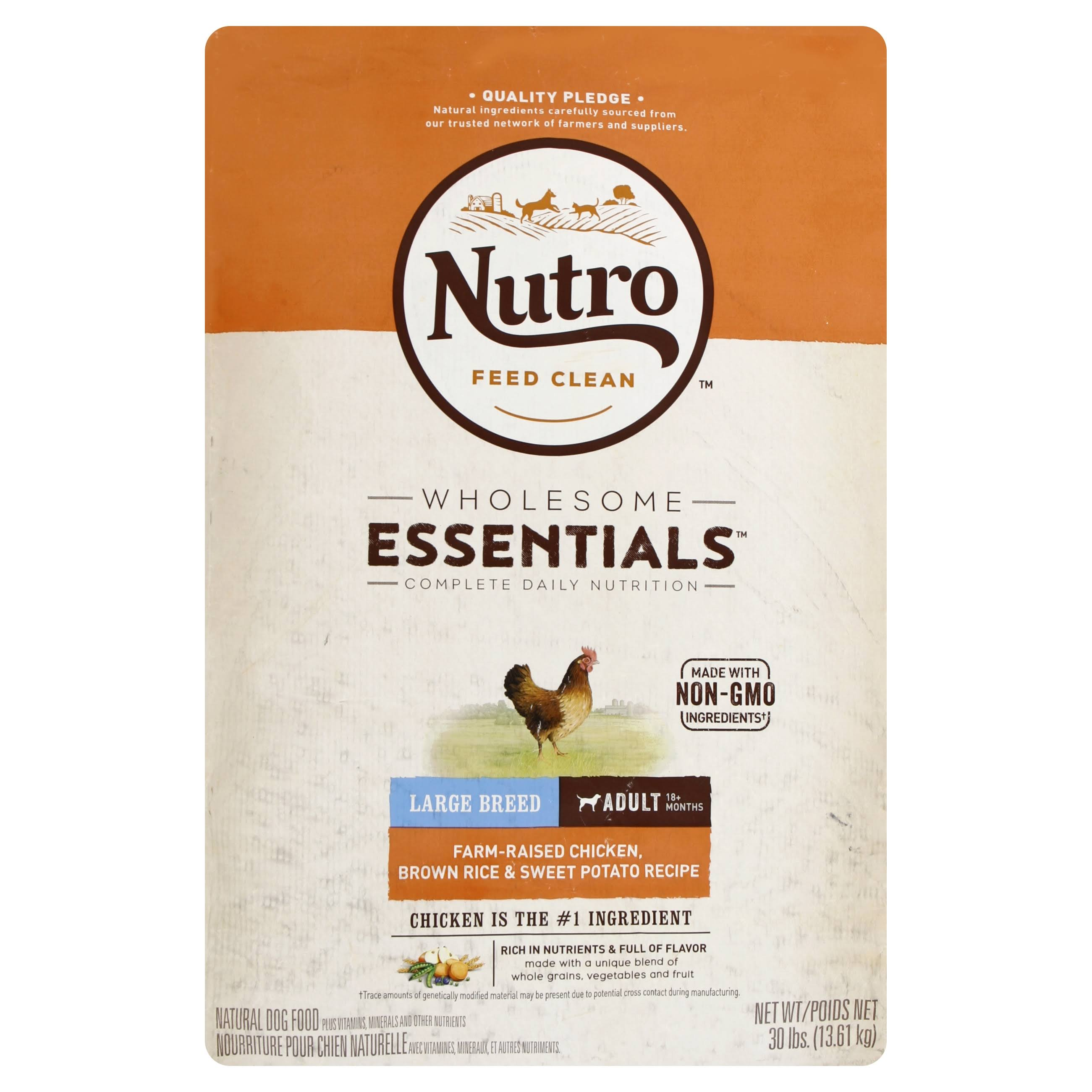 Nutro Large Breed Adult Dog Food - Chicken, Whole Brown Rice and Oatmeal, 30lbs