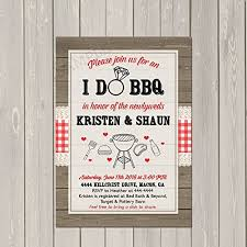 I Do BBQ Invitation Couples Wedding Shower Barbecue Engagement Party Invite