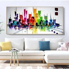 moderne stadt landschaft mode home design leinwand malerei landschaft new york bilder abstrakte malerei wohnzimmer dekoration