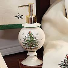 Spode Christmas Tree Wine Glasses by Spode Christmas Tree Bath Accessories