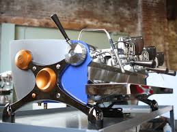 This Image Is A Front Side View Of The Slayer Espresso Custom Machine With