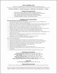 Example Resume For Distribution Manager Awesome Fresh 36 Logistics Shipping And Receiving Job