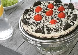 erdbeer oreo frischkäse torte no bake