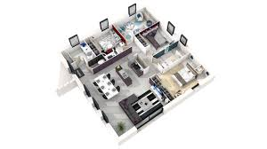 maison moderne 3d 4 chambres