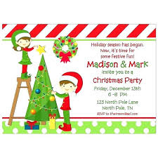 Christmas Tree Trimming Sibling Collection Party Invitation Wording
