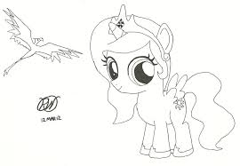 My Little Pony Coloring Pages Fluttershy Filly For Kids Princess Luna Photos Page Ncsudan