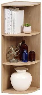 eckregal mit 3 fächern standregal bücherregal aus holz für küche schlafzimmer wohnzimmer büro