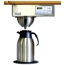 Undermount Coffee Maker Built In Digital Controls Brushed Stainless Steel 7 Under Counter