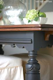 Draw Leaf Table in Lamp Black and Java