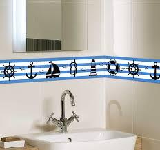 wandtattoo badezimmer marine bordüre