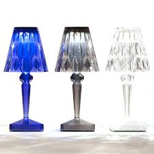 Kartell Bourgie Lamp Silver by Table Lamps Kartell Taj Mini Table Lamp Kartell Cindy Table Lamp