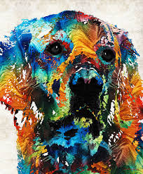 Paintings For Famous Colorful Dog