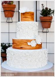 Wood Grain White A Rustic Wedding Cake