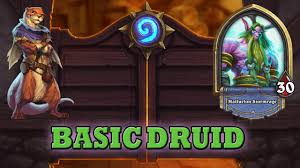 Hearthpwn Arena Deck Builder by Hearthstone Deck Guide Starter Druid Basic Cards Only Youtube