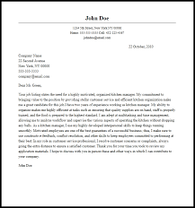 Professional Kitchen Manager Cover Letter Sample & Writing Guide
