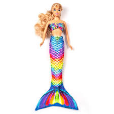 Mermaid Doll Tails For Fashion Dolls Rainbow Reef Doll Tail Set By