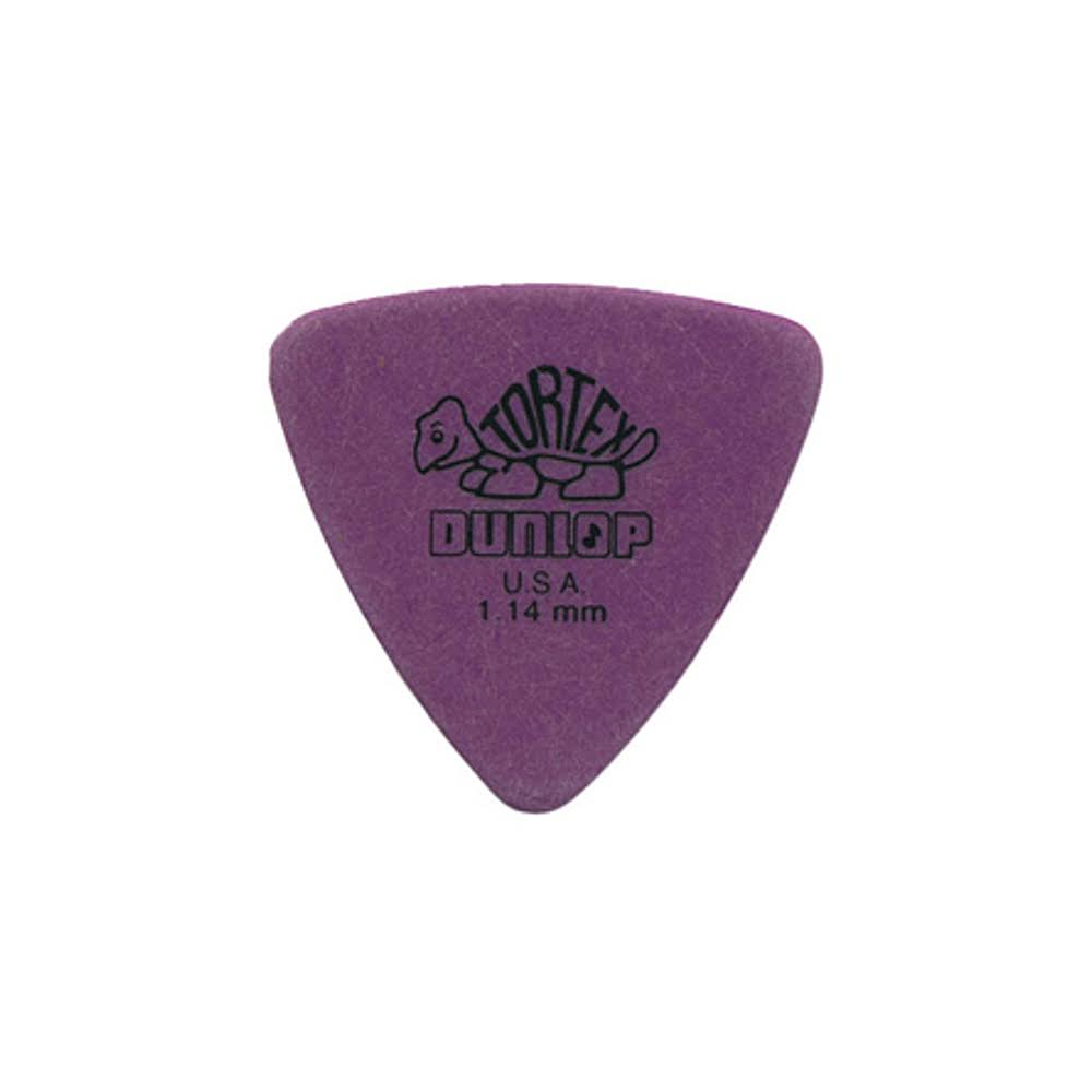 Jim Dunlop Tortex Triangle Guitar Pick - 1.14mm, Purple