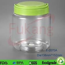 2L Wide Mouth Transparent Coffee Powder Plastic Jar Large Clear Container