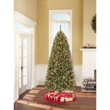 Black Slim Christmas Tree Pre Lit by Holiday Time Pre Lit 7 U0027 Brookfield Fir Artificial Christmas Tree