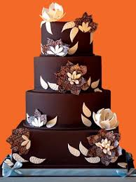 Chocolate Flower Transfer Sheet Wedding Cake