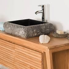 vasque à poser en marbre naples rectangle d 50 cm