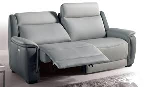 canapé de relaxation 2 places canape relax 2 places cuir canapac relaxation coloris gris