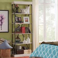 white free standing shelves and bookcases bellacor