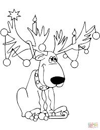 Christmas Lights On Reindeer Antlers