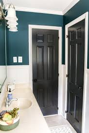 Gray And Teal Bathroom by Teal Painted Bathroom Makeover Bless U0027er House