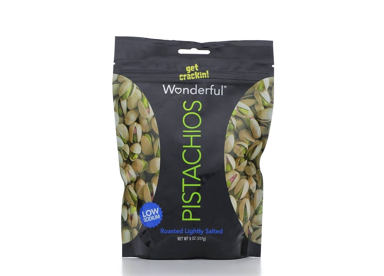 Wonderful In Shell Pistachios - Roasted Lightly Salted, 8oz