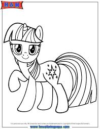 Unicorn Pony Twilight Sparkle Coloring Page