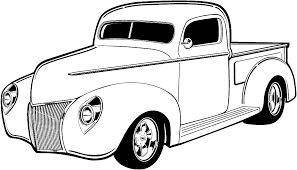 Hot Road Classic Car Clipart