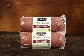 100 Sweet 22 Chipotle Summer Sausage Oz Bellville Meat Market