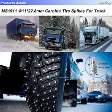 Marrkey 100PCS 22.8mm Tire Studs For Truck/Spikes For Tires/Winter ... Best Buy Vehemo Snow Chain Tire Belt Antiskid Chains 2pcs Car Cable Traction Mud Nonskid Noenname_null 1pc Winter Truck Black Antiskid Bc Approves The Use Of Snow Socks For Truckers News Zip Grip Go Emergency Aid By 4 X 265 70 R 16 Ebay Light With Camlock Walmartcom Titan Hd Service Link Off Road 8mm 28575 Amazonca Accsories Automotive Multiarm Premium Tightener For And Suv Semi Traffic On Inrstate 5 With During A Stock