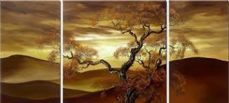Desert In The Sunset III Modern Canvas Art Wall Decor Landscape Oil Painting