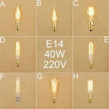 220v 230v 240v vintage 40w e14 edison bulbs retro incandescent