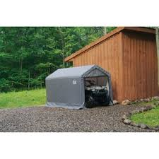 shelterlogic 6x10x6 6 shed in a box grey