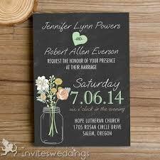 Rustic Mason Jars Chalkboard Wedding Invitations IWI335 Online Marriage Invitation Doodle Modern Art With High Quality