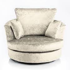 Swivel Cuddle Chairs Uk by Joy Swivel Cuddle Chair Cream Fabric Crushed Velvet Fabric Sofas