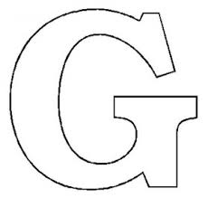 Free Letter G Printable Coloring Pages For Child