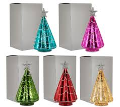 Qvc Bethlehem Lights Christmas Tree Recall by Kringle Express S 5 Illuminated Mercury Glass Trees With Gift