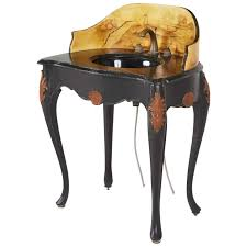 Sherle Wagner Italy Sink custom hand painted italian style marble top pedestal sink at 1stdibs